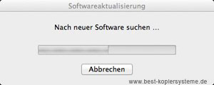 Softwareaktualisierung nach Mac OSX Lion Installation