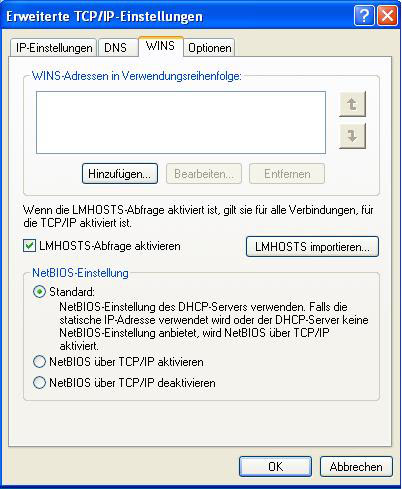 Windows 2008 NetBIOS aktivieren