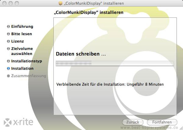 Installation Kallibrierungssoftware am Mac